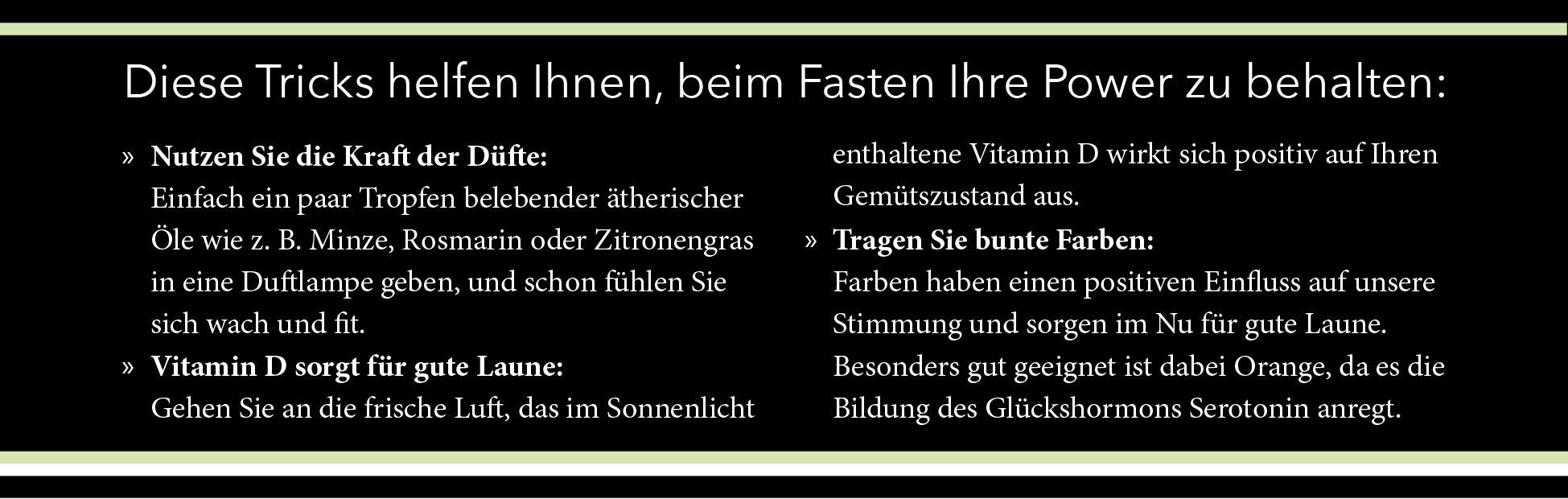 Fasten-Tipps