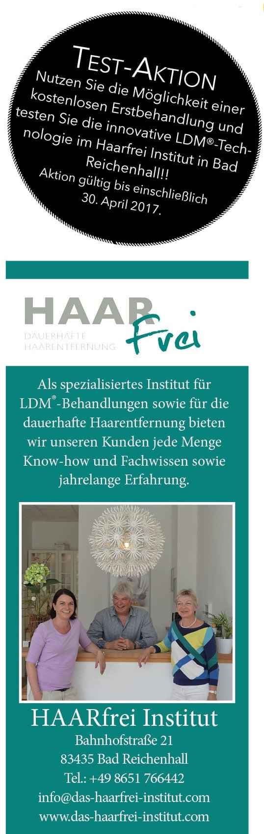 LDM - Technologie im Haarfrei Institut in Bad Reichenhall
