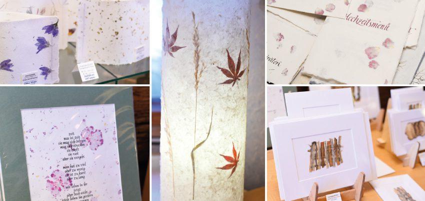 Handgefertigte Papierkunstwerke